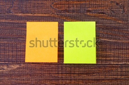 color paper on wooden background Stock photo © tycoon