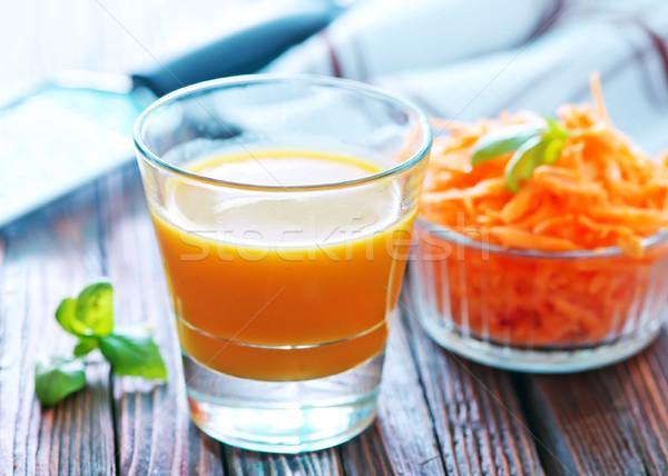 Foto stock: Vidro · tabela · comida · folha · fruto