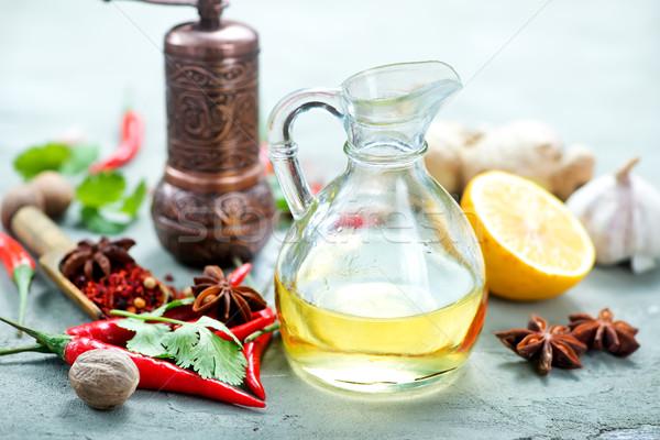 Aroma Spice tavola peperoncino sfondo cucina Foto d'archivio © tycoon