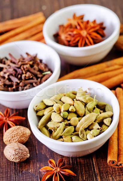 аромат Spice чаши таблице текстуры продовольствие Сток-фото © tycoon