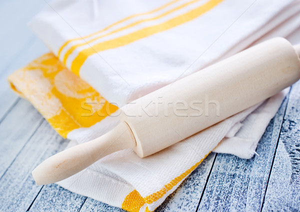 roling on kitchen towel Stock photo © tycoon