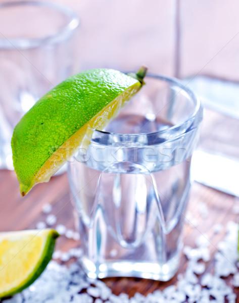 Tequila étel buli fa üveg koktél Stock fotó © tycoon