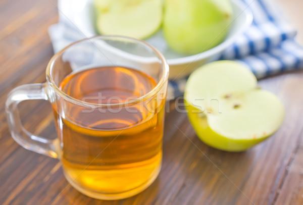 Almalé fa alma háttér nyár asztal Stock fotó © tycoon