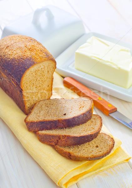 масло хлеб торговых зеленый сыра черный Сток-фото © tycoon