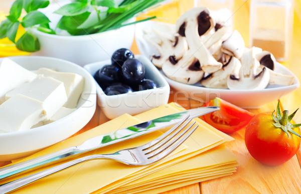 Ingredienti lasagna primavera cucina ristorante cena Foto d'archivio © tycoon