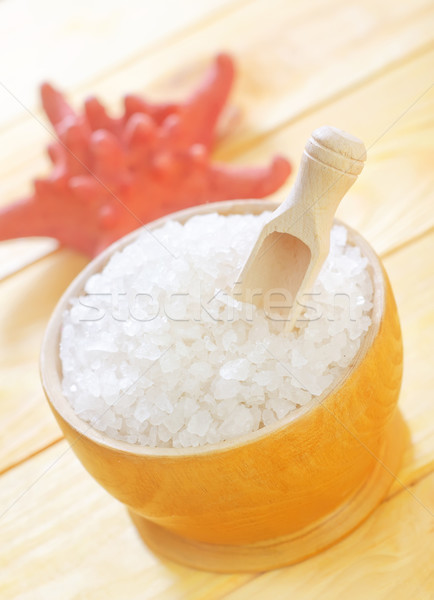 sea salt and towels Stock photo © tycoon