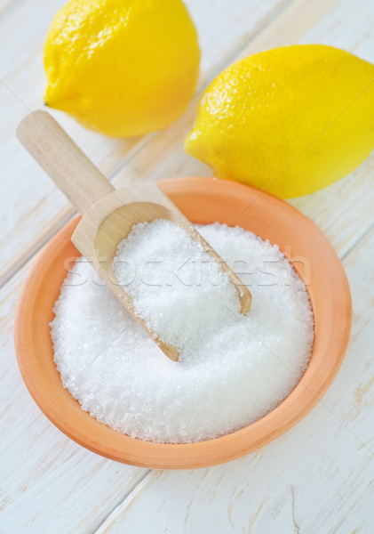 Acide citrons alimentaire hiver blanche chimie Photo stock © tycoon