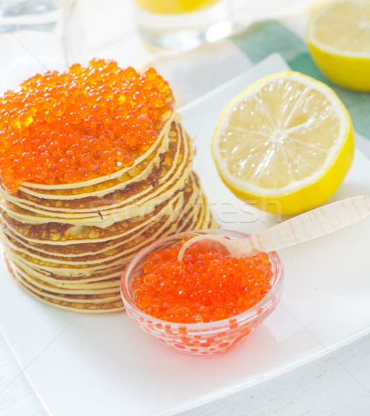 Caviar alimentaire poissons orange manger Photo stock © tycoon