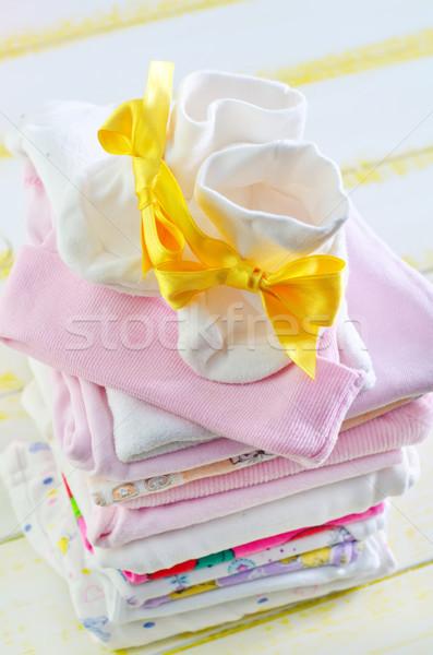Bébé vêtements mode enfant design Kid Photo stock © tycoon