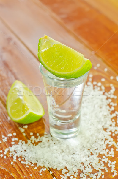 Tequila madeira fundo verde tropical legal Foto stock © tycoon