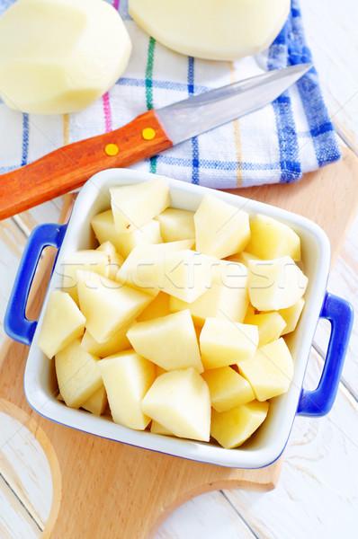 Stock photo: raw potato