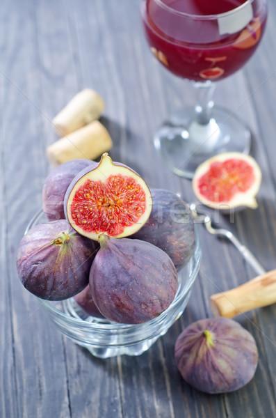 żywności owoców tabeli jesienią nóż deser Zdjęcia stock © tycoon