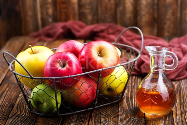 Mela sidro aceto bottiglia tavola frutta Foto d'archivio © tycoon