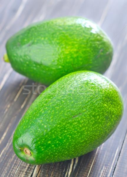 Stok fotoğraf: Taze · avokado · meyve · arka · plan · yeşil · damla