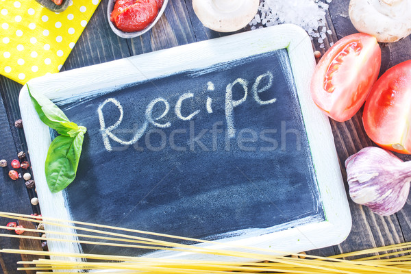 board for recipe Stock photo © tycoon