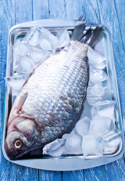 Balık buz akşam yemeği balık tutma limon Stok fotoğraf © tycoon