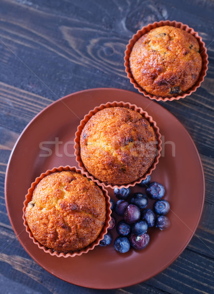 muffin with blueberry Stock photo © tycoon