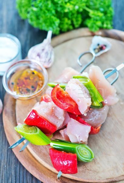 кебаб сырой овощей ресторан таблице Сток-фото © tycoon