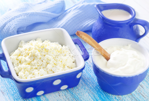 Nata comida tabela azul queijo prato Foto stock © tycoon