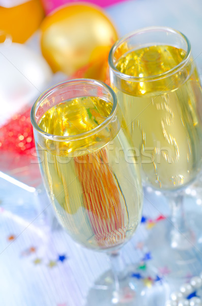 champagne flutes Stock photo © tycoon