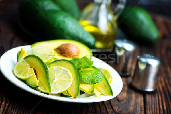Awokado Sałatka tablicy tabeli żywności zielone Zdjęcia stock © tycoon