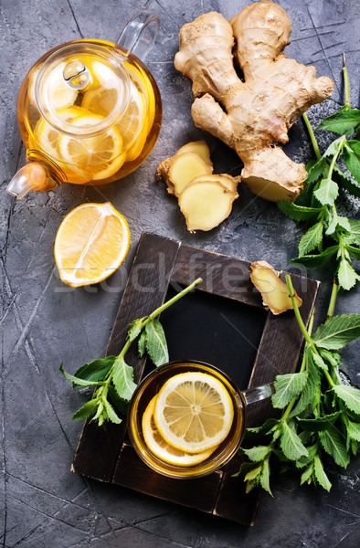 ginger, mint and tea Stock photo © tycoon