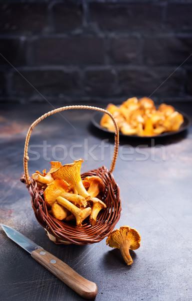 Ruw champignon vers champignons groep najaar Stockfoto © tycoon