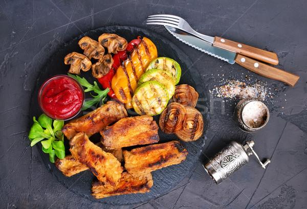 Gegrild groenten plantaardige saus aroma Stockfoto © tycoon