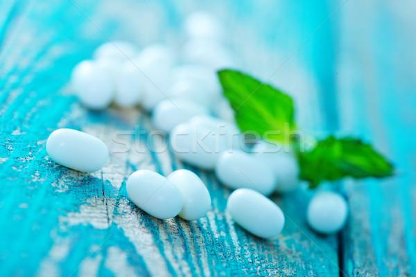 мята конфеты лист таблице продовольствие оранжевый Сток-фото © tycoon