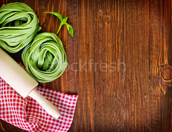 Macarrão ovo verde trigo cozinhar Foto stock © tycoon