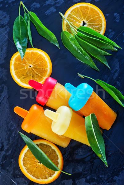 homemade orange icecream Stock photo © tycoon
