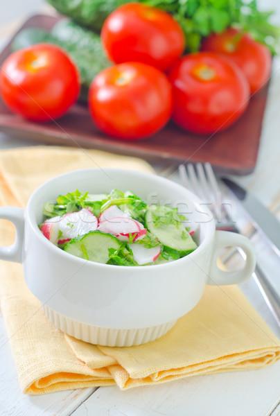 Taze salata bahar gıda yaprak arka plan Stok fotoğraf © tycoon