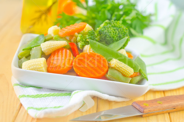 Verdura estate verde cena piatto forcella Foto d'archivio © tycoon