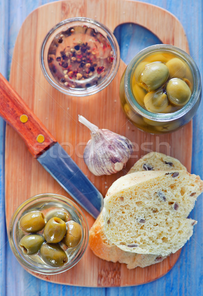 bread with olive Stock photo © tycoon