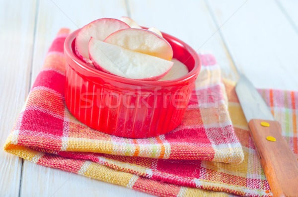 Cynamonu jabłka owoców zdrowia ciasto zimą Zdjęcia stock © tycoon