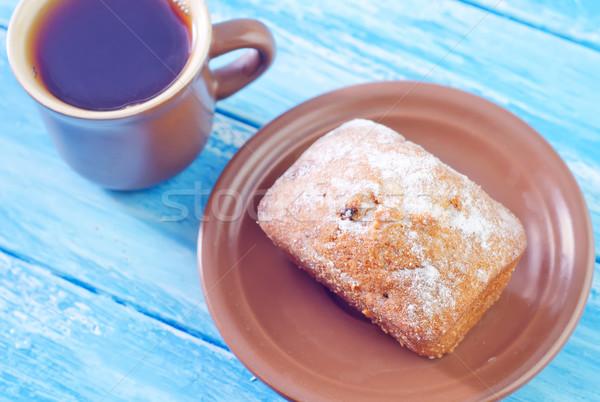 Zoete suiker voedsel witte dessert eten Stockfoto © tycoon