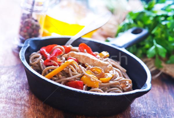 Stockfoto: Vlees · groenten · schaal · voedsel · zomer · diner