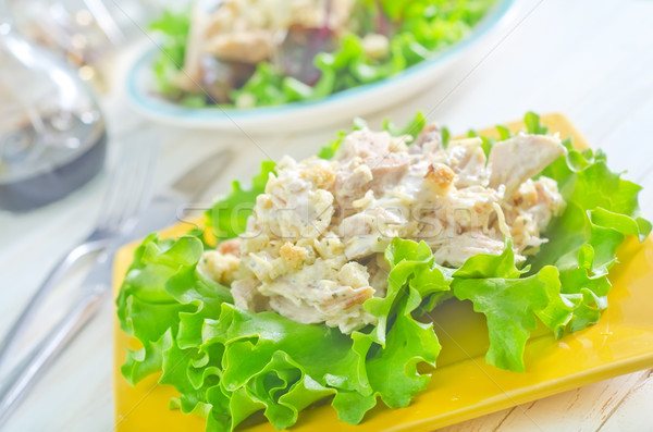fresh salad on plate Stock photo © tycoon