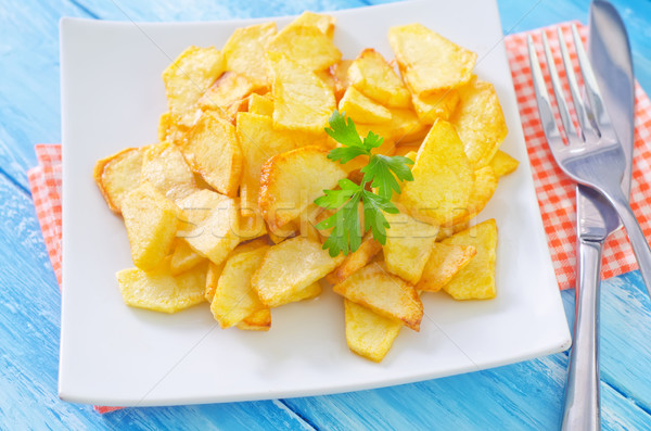Aardappel hout licht keuken bar Stockfoto © tycoon