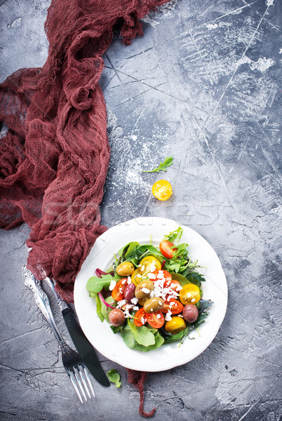 Салат пластина таблице лист обеда красный Сток-фото © tycoon