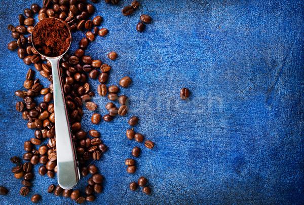 Kahve kahve çekirdekleri tablo soyut arka plan sanat Stok fotoğraf © tycoon
