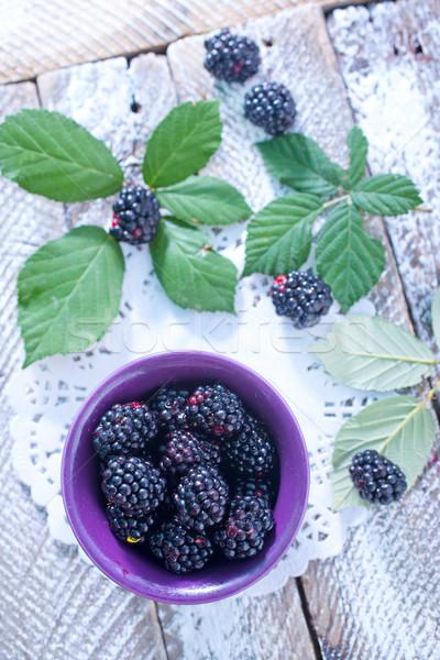 BlackBerry природы фрукты здоровья фон кухне Сток-фото © tycoon