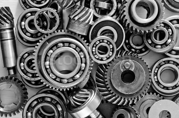 metal gears, nuts and bolts Stock photo © tycoon