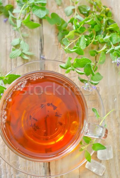 Chá de água comida saúde verde Foto stock © tycoon