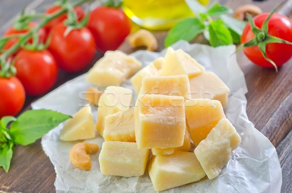 Parmigiano alimentare verde latte olio pomodoro Foto d'archivio © tycoon