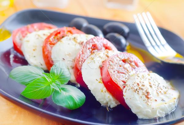 Caprese étel olaj élet szín saláta Stock fotó © tycoon
