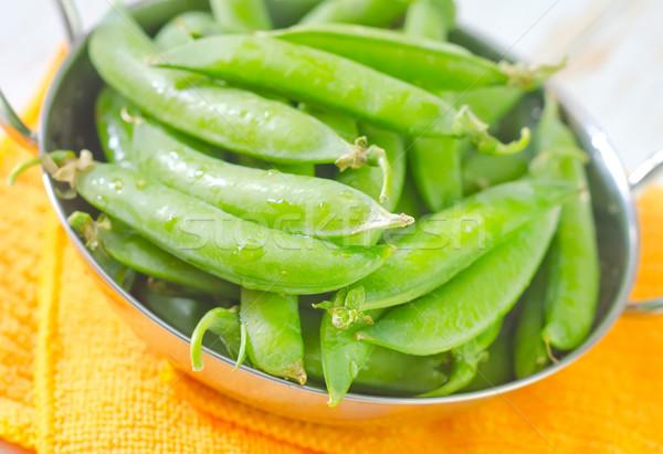 ストックフォト: 緑 · エンドウ · 健康 · 工場 · 調理 · 食べる