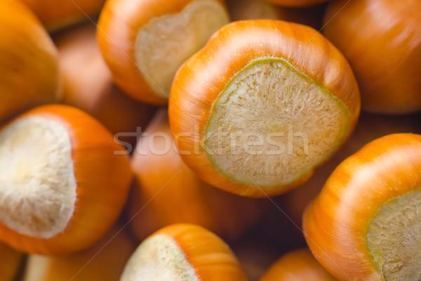 Groep noten hazelnoten natuur gezondheid achtergrond Stockfoto © tycoon