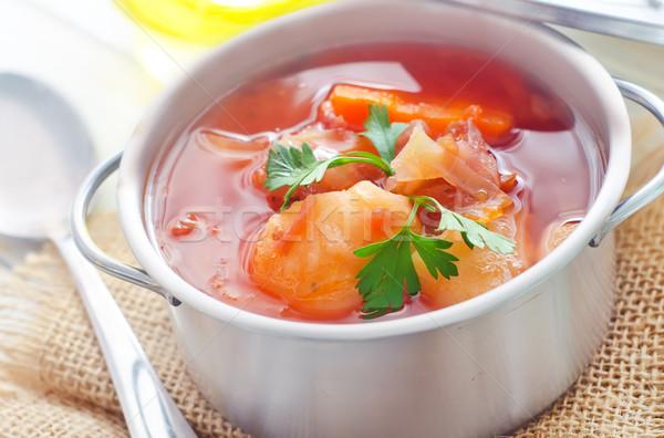 子牛肉 シチュー スープ 肉 野菜 ストックフォト © tycoon