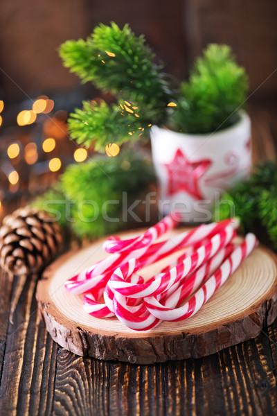 Natale decorazione candele tavola felice sfondo Foto d'archivio © tycoon